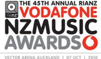 VODAFONE NEW ZEALAND MUSIC AWARDS 2010