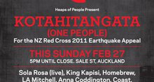 KOTAHITANGATA (ONE PEOPLE) CONCERT FOR THE NZ RED CROSS 2011 EARTHQUAKE APPEAL