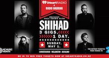 iHeartRadio New Zealand Presents Shihad - Three Shows, One Day to Launch NZ Music Month