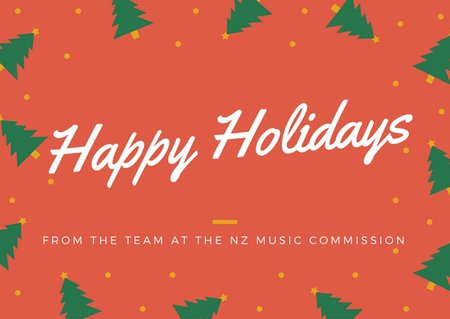 Christmas Office Hours   General News   NZ Music Commission
